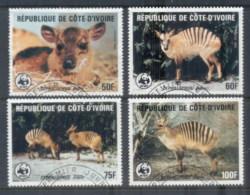 Ivory Coast 1985 WWF Zebra Duiker FU - Ivory Coast (1960-...)