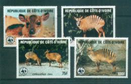 Ivory Coast 1985 WWF Zebra Duiker MUH Lot64048 - Ivory Coast (1960-...)
