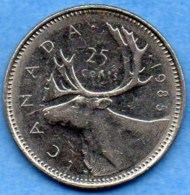 T1/  CANADA  25 Cents 1985  KM#74 - Canada