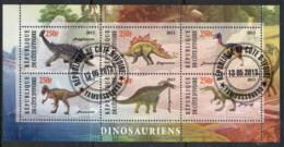 Ivory Coast 2013 Prehistoric Animals, Dinosaurs MS CTO - Ivory Coast (1960-...)
