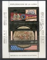 Equatorial Guinea 1972 Apollo 17 Space Mission Gold Foil Embossed MS CTO - Equatorial Guinea