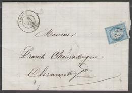 Puy De Dôme:  G.C.4321 Sur N°60A + CàD VOLVIC(62) Sur LAC De 1873 - Marcophilie (Lettres)