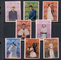 Equatorial Guinea 1973c. Royalty, Princess Anne, Prince Charles, Queen Mother IMPERF MUH - Equatorial Guinea