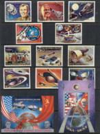 Equatorial Guinea 1974 Soviet-American Space Cooperation + 2xMS CTO - Equatorial Guinea