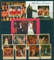 Equatorial Guinea 1978 Coronation Anniv + MS Perf/IMPERF Lot30465 - Equatorial Guinea