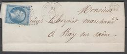 Haute Saône:  P.c.916 Sur N°14B + CàD COMBEAUFONTAINE(69) Sur LAC De 1861 (origine VAUCONCOURT) - Marcophilie (Lettres)
