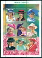 Equatorial Guinea 1997 Princess Diana In Memoriam, England's Rose In Her Many Hats MS MUH - Equatorial Guinea