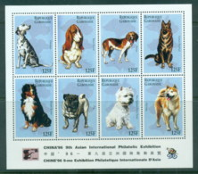 Gabon 1996 Dogs, China '96 Philatelic Ex MS MUH - Gabon