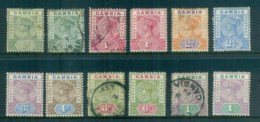 Gambia 1898 87 QV Asst (faults) MH/FU Lot79873 - Gambia (1965-...)