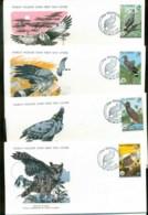 Gambia 1978 WWF,Hawk, Buzzard, Eagle, Owl ,Franlkin Mint (with Inserts) 4xFDC Lot79621 - Gambia (1965-...)
