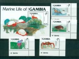 Gambia 1984 Marine Life + MS MUH Lot73149 - Gambia (1965-...)