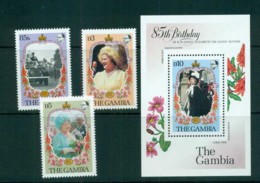 Gambia 1985 Queen Mother 85th Birthday + MS MUH Lot73157 - Gambia (1965-...)