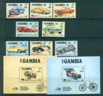 Gambia 1986 Classic Cars Carl Benz + 2x MS MUH Lot73173 - Gambia (1965-...)