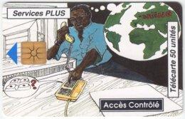 BENIN A-033 Chip L'OPT - Cartoon Communication, Telephone - Used - Benin
