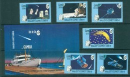 Gambia 1986 Halley's Comet + MS MUH Lot73170 - Gambia (1965-...)