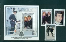 Gambia 1986 Royal Wedding, Andrew & Sarah + MS MUH Lot73177 - Gambia (1965-...)