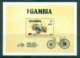 Gambia 1986 Vintage Cars Steiger MS MUH Lot80010 - Gambia (1965-...)