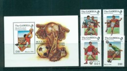 Gambia 1986 World Cup Soccer, Mexico + MS MUH Lot73171 - Gambia (1965-...)