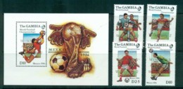 Gambia 1986 World Cup Soccer, Mexico Opt Winners + MS MUH Lot73180 - Gambia (1965-...)