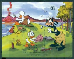 Gambia 1991 Disney, Just So Stories, How The First Letter Was Written MS MUH Lot78952 - Gambia (1965-...)