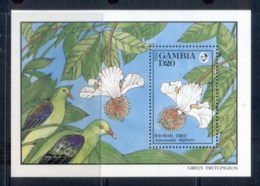 Gambia 1992 Flowers, Baobab MS MUH - Gambia (1965-...)