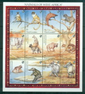 Gambia 1993 Animals Of West Africa MS MUH - Gambia (1965-...)