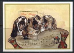 Gambia 1998 Xmas, Dogs MS MUH - Gambia (1965-...)
