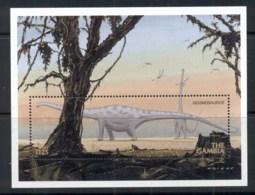 Gambia 1999 Prehistoric Animals, Dinosaurs MS MUH - Gambia (1965-...)