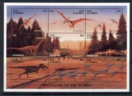 Gambia 1999 Prehistoric Animals, Dinosaurs Sheetlet MUH - Gambia (1965-...)