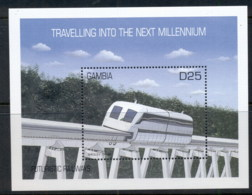 Gambia 2000 Futuristic Railways Maglev MS MUH - Gambia (1965-...)