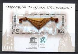 4.-  LUXEMBOURG 2011. MINIATURE SHEET. PROCESSION ECHTERNACHE. UNESCO. WORLD HERITAGE - Ungebraucht