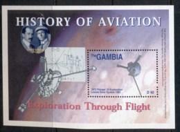 Gambia 2003 History Of Aviation MS MUH - Gambia (1965-...)
