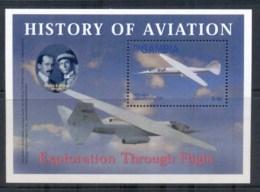 Gambia 2003 History Of Aviation, Rxploration Through Flight MS MUH - Gambia (1965-...)