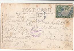 Curacao / Postcards / Censorship / U.S. - Pays-Bas