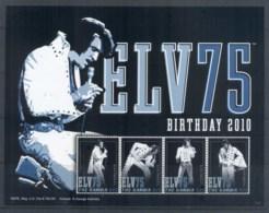 Gambia 2010 Elvis Presley 75th Birthday MS MUH - Gambia (1965-...)