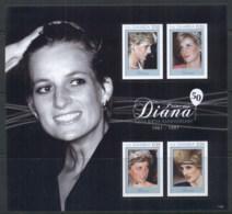 Gambia 2011 Princess Diana 50th Birth Anniversary MS MUH - Gambia (1965-...)
