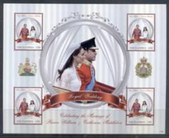 Gambia 2011 Royal Wedding William & Kate #1129 D30 MS MUH - Gambia (1965-...)