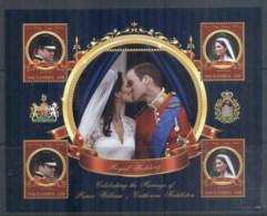 Gambia 2011 Royal Wedding William & Kate #1130 D30 MS MUH - Gambia (1965-...)