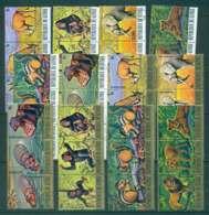 Guinee 1977 Endangered Animals 12x Str3 CTO Lot43654 - Guinea (1958-...)
