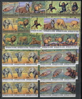 Guinee 1977 Endangered Animals Blk3 MUH - Guinea (1958-...)