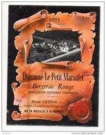 BERGERAC . DOMAINE LE PETIT MARSALET 1993 . PIERRE CATHAL - Ref. N°2539 - - Bergerac