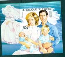 Guinee 1981 Charles & Diana Wedding 50s IMPERF MS MUH Lot44969 - Guinea (1958-...)