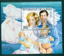 Guinee 1981 Charles & Diana Wedding 50s MS FU Lot44971 - Guinea (1958-...)