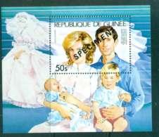 Guinee 1981 Charles & Diana Wedding 50s SPECIMEN MS MUH Lot44970 - Guinea (1958-...)
