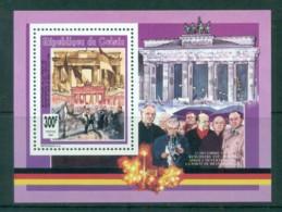 Guinee 1992 Brandenburg Gate, Konrad Adenauer MS MUH - Guinée (1958-...)