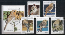 Guinee 1995 Birds + MS CTO - Guinea (1958-...)