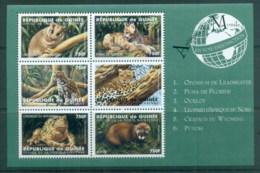 Guinee 1998 Endangered Species 750fr MS MUH - Guinea (1958-...)