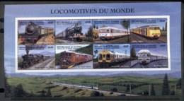 Guinee 1998 Locomotives Of The World, Trains Sheetlet MUH - Guinea (1958-...)