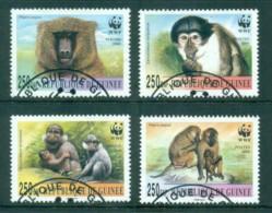 Guinee 2000 WWF Mangabey & Baboons FU - Guinea (1958-...)