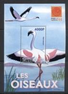 Guinee 2001 Birds, Philanippon, Flamingo MS MUH - Guinea (1958-...)